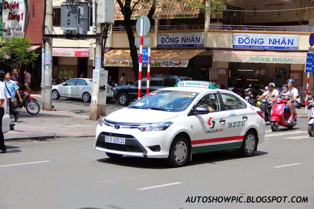 Vietnam Taxi Toyota Vios Third Generation