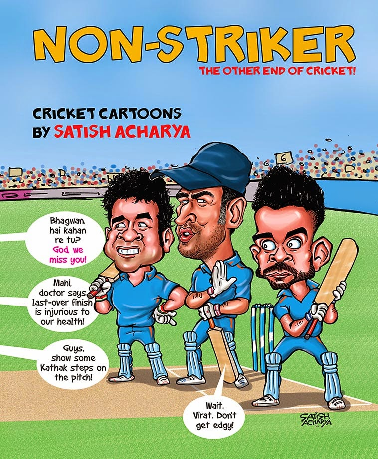 Buy My Cricket Cartoon Book!