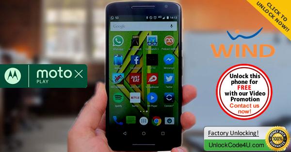 Factory Unlock Code Motorola Moto X Play from Wind