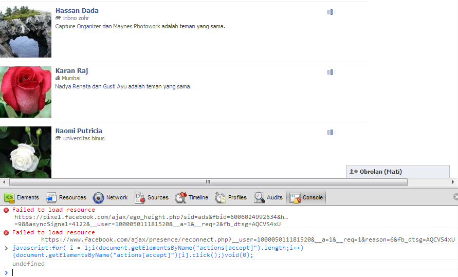 Auto Accept Pertemanan di Facebook - Google Chrome 2