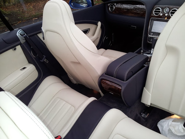 Bentley Continental GTC W12 convertible rear seats
