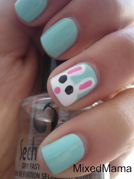 mixedmama easter bunny nails