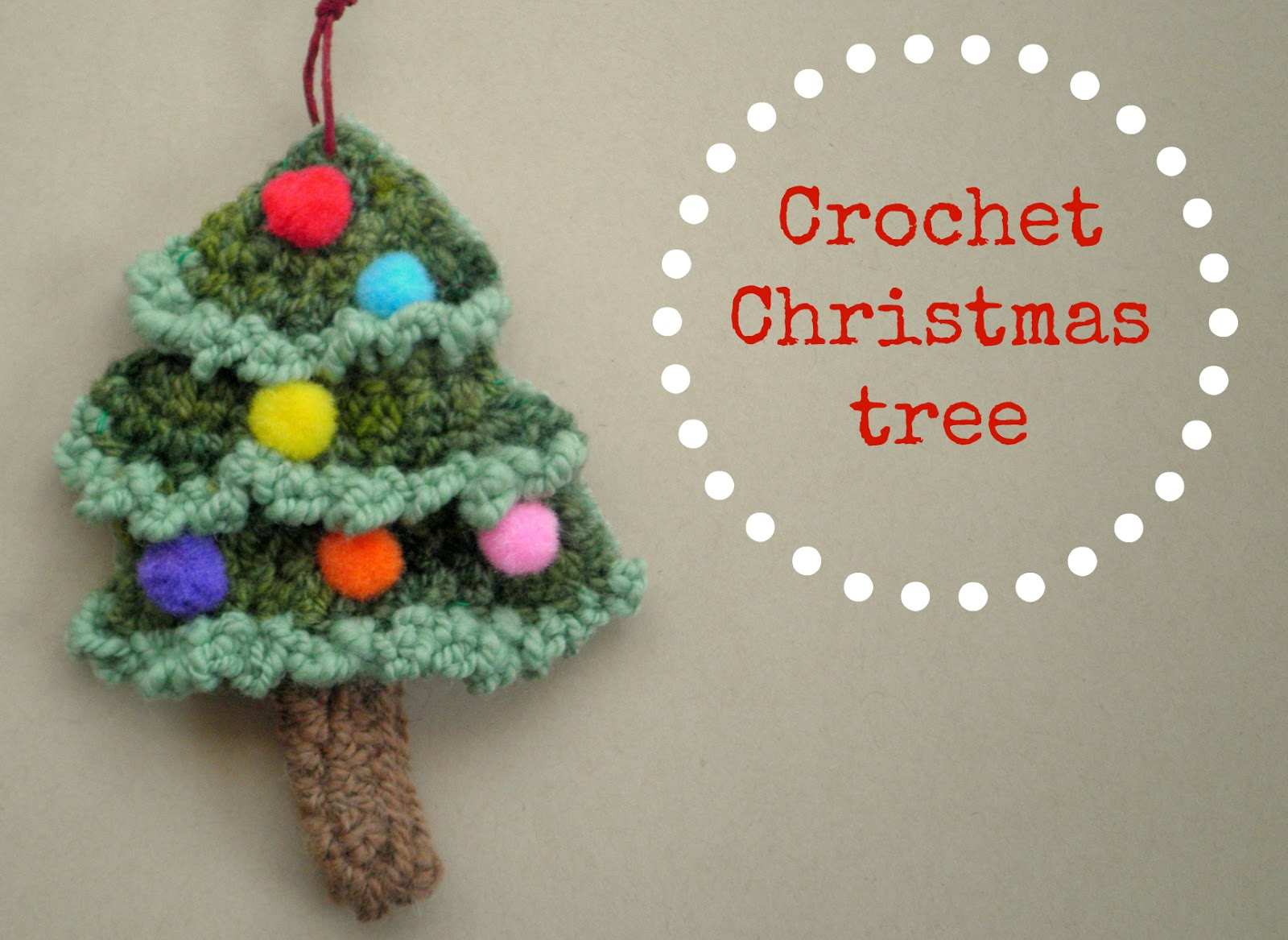 Crochet Pattern For Xmas Tree : nz green buttons: crochet a Christmas tree!