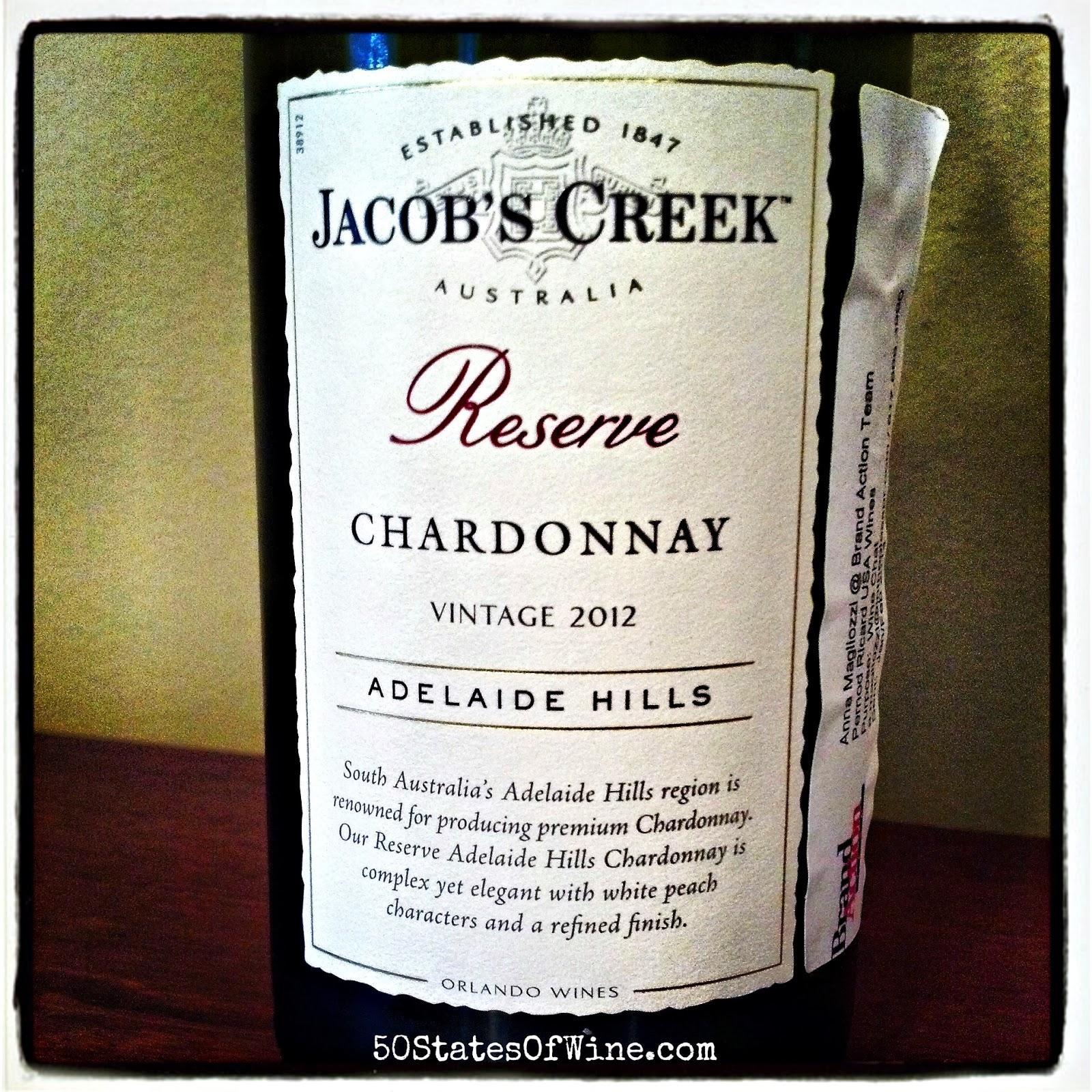 Jacob's Creek Reserve Adelaide Hills Chardonnay 2012
