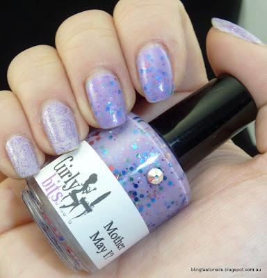 China Glaze Luminous Lilac and Girly Bits Mother May I