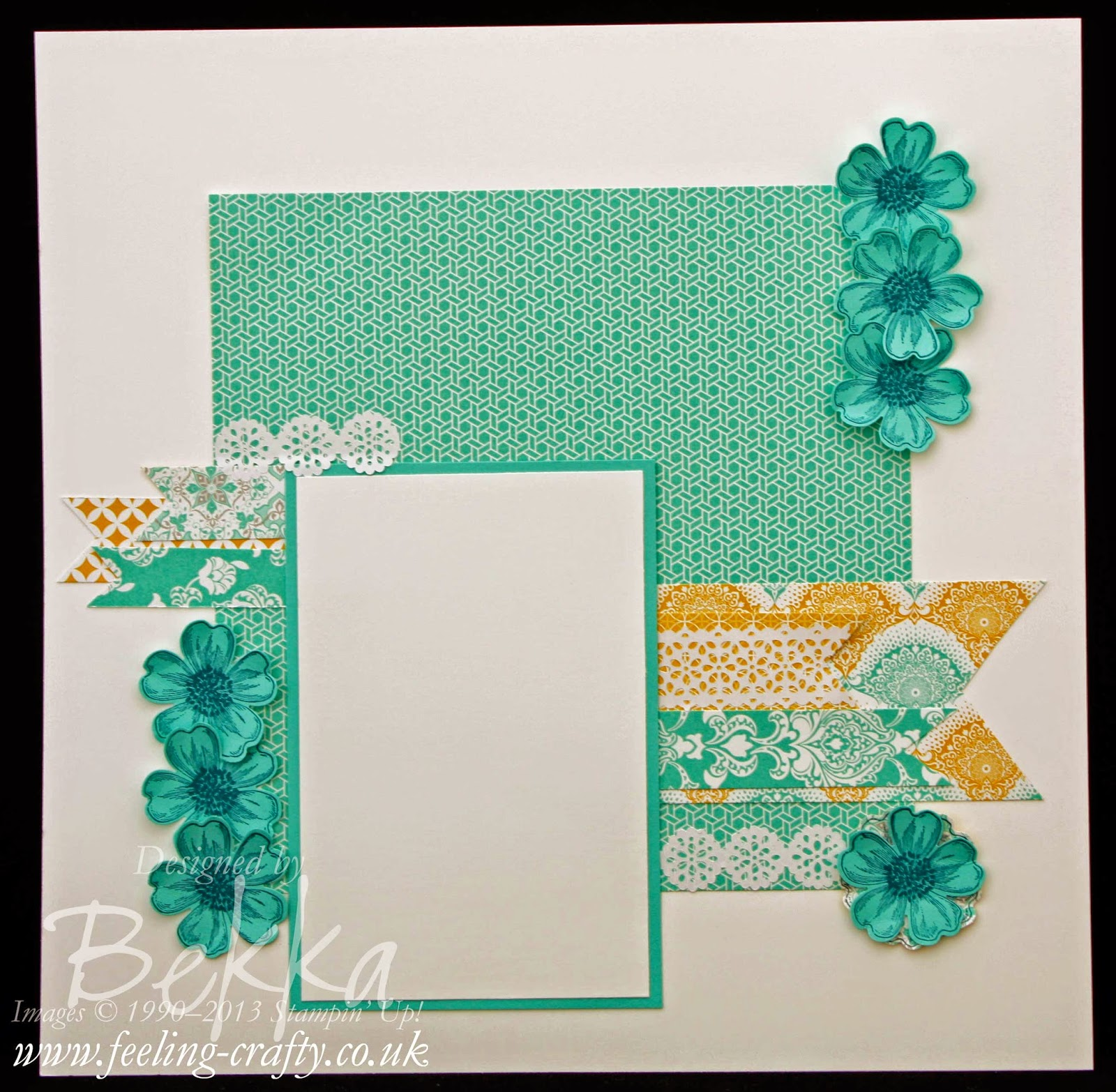 Scrapbook Page featuring the Eastern Elegance Papers from Stampin' Up! UK Independent Demonstrator Bekka Prideaux
