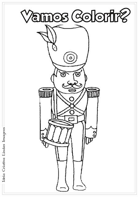 Desenho Dia do Soldado pra colorir
