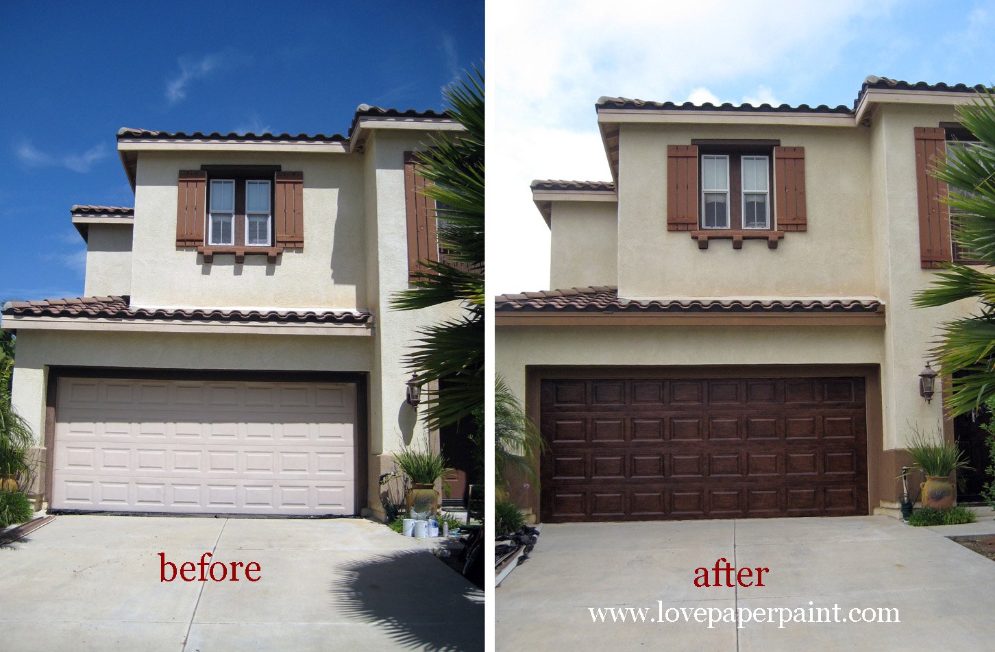Faux wood painted garage doors - Faux Wood Doors
