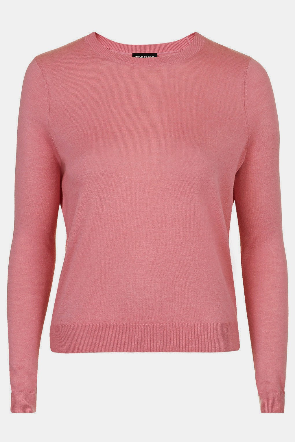 topshop pink jumper, pink long sleeve top,