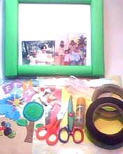 Foto Bingkai Gunting gerigi Double tape foam Gunting Stiker Lem ...
