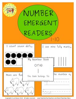 https://www.teacherspayteachers.com/Product/Numbers-1-10-Emergent-Readers-2178349