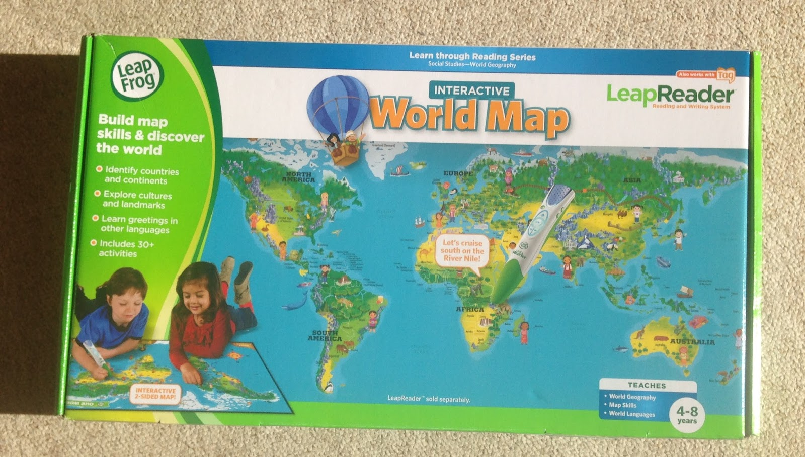 Mellow mummy leapfrog discover summer club and leapreader as part of the leapfrog blogger panel lara was sent a copy of the leapfrog leapreader interactive world map which is an absolutely brilliant learning gumiabroncs Choice Image