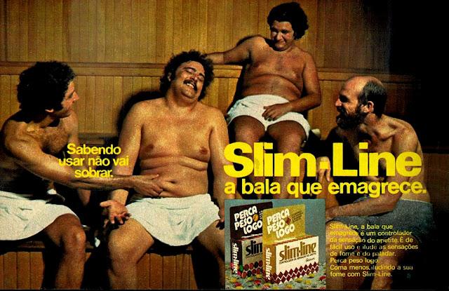 propaganda bala Slim-Line - 1975. 1975, os anos 70; propaganda na década de 70; Brazil in the 70s, história anos 70; Oswaldo Hernandez;