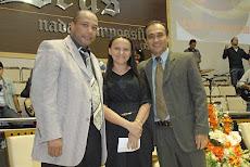 Pr. Adeildo, Eliene Vieira, Daniel Vieira