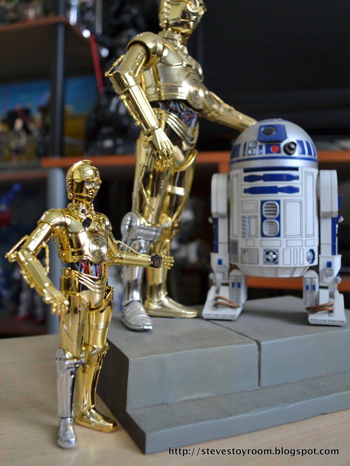 R2d2 And C3po Toys : Steve s toy room bandai quot c po model kit review