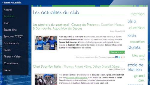 Nouveau site internet du Triathlon Club Saint-Quentin-en-Yvelines par Synoptic Productions