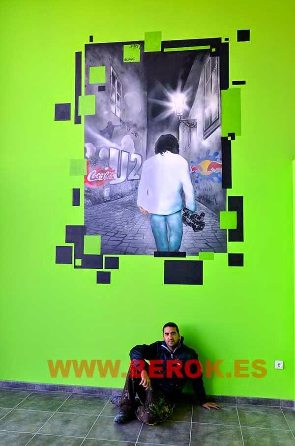 Graffiti mural Berok acabado