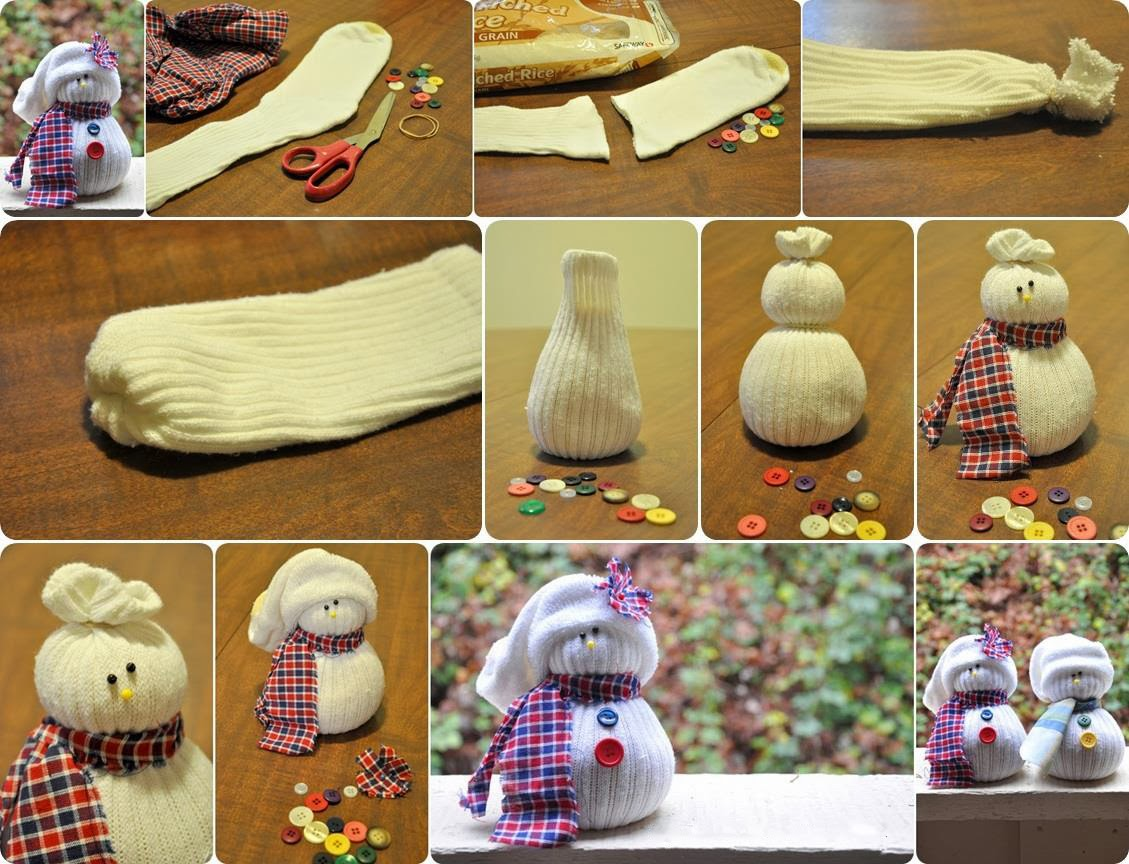Ideas products diy sock snowmen for Best out of waste making