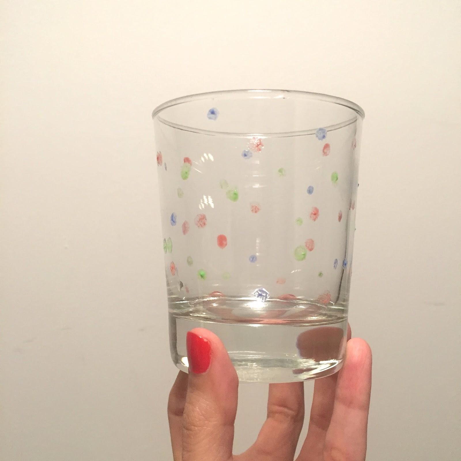 Delipapel personalizamos vasos de cristal con lunares for Vasos cristal colores