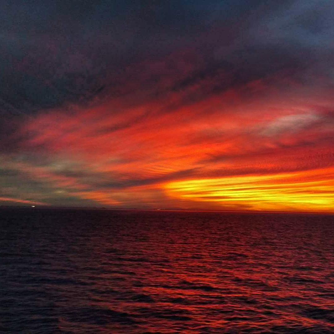 Zapad slunce na mori