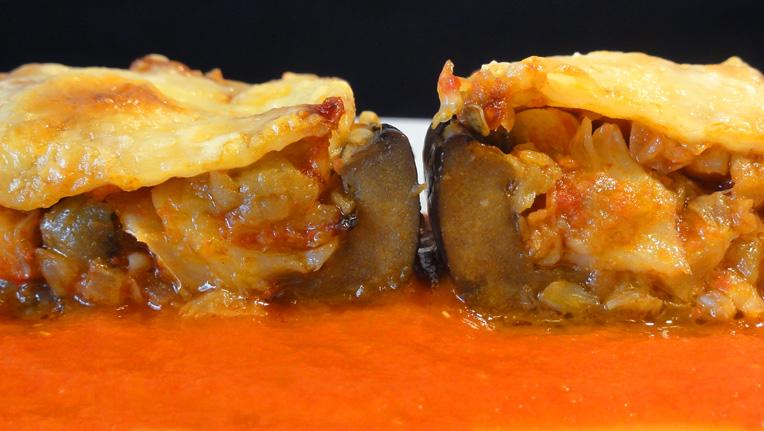 Cocinar para los amigos berenjenas rellenas de bacalao - Berenjenas rellenas de bacalao ...
