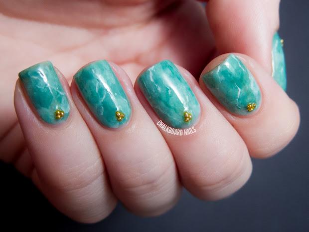 31dc2013 day 04 green jade nails
