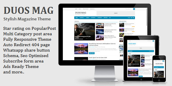 Duos Mag blogger template