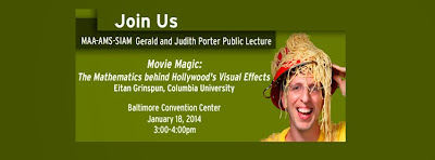 MAA-AMS-SIAM Gerald and Judith Porter Public Lecture - See more at: http://jointmathematicsmeetings.org/meetings/national/jmm2014/2160_program_saturday.html#2160:PORTER