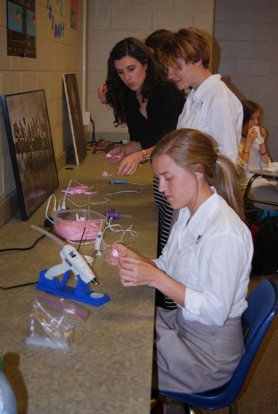 MONTGOMERY CATHOLIC PREPARATORY SCHOOL'S YOUNG WOMEN'S LEADERSHIP THINKS PINK. 1