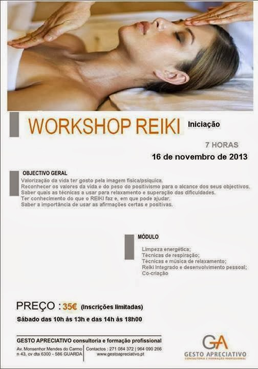 Workshop de Reiki (iniciação) na Guarda