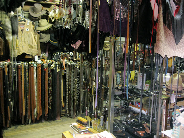 Native Leather in New York City has belts and hats and everything leather