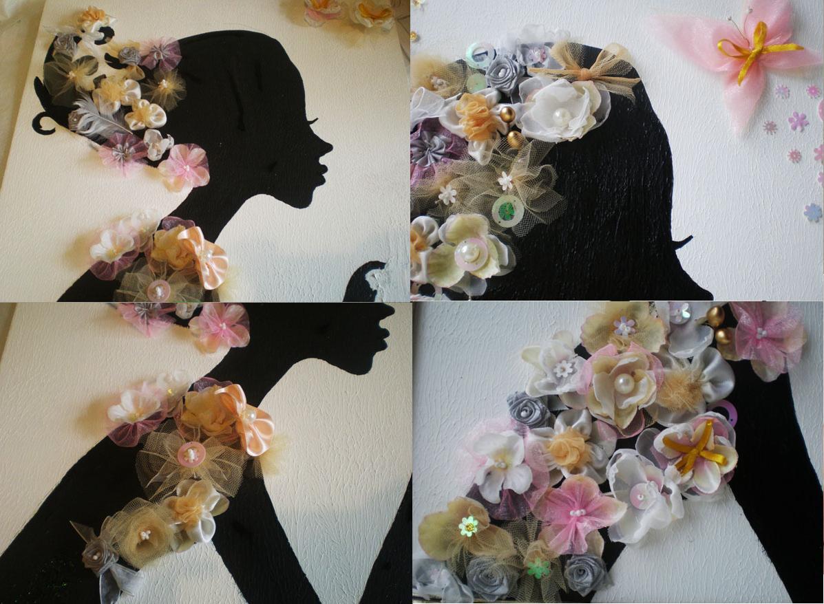 Cuadro de fieltro - Como hacer cuadros faciles en casa ...