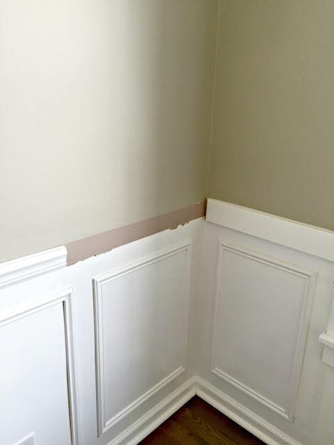 wainscoting squares and chair rail