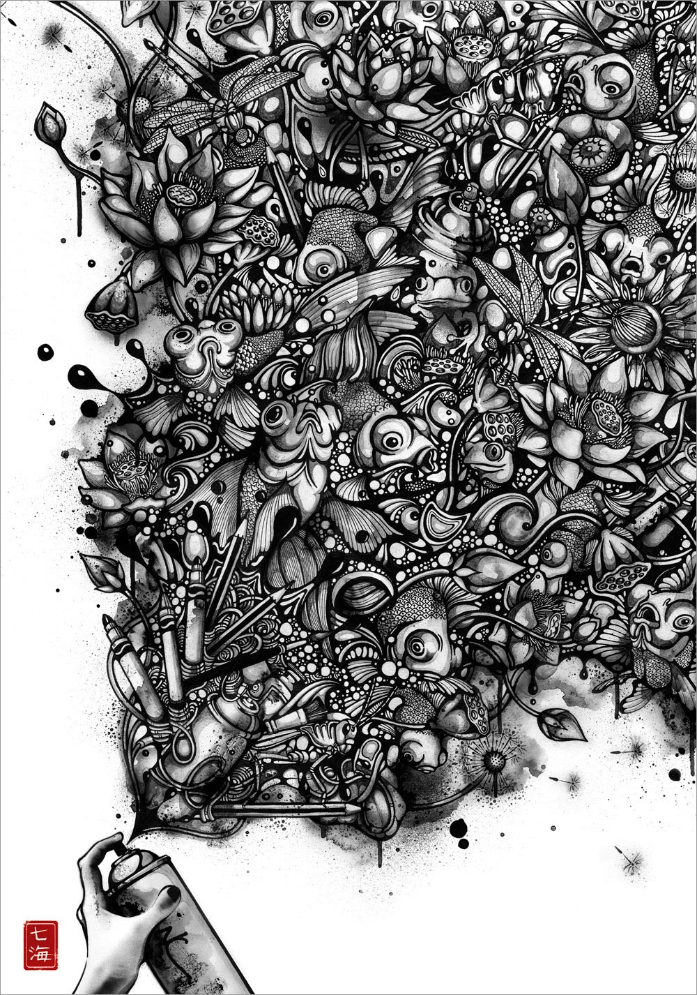 08-Ink-Pond-Nanami-Cowdroy-Splashes-of-Ink-Drawings-www-designstack-co