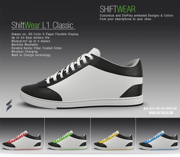 عجائب الدنيا وهل تعلم - حذاء رياضي يغير ألوانه وأشكاله عن طريق تلفونك الذكي