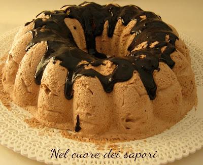 semifreddo di nutella, amaretti e caffè con glassa al cioccolato