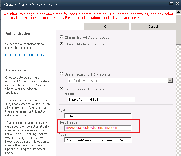Sharepoint 2010 Host Header Web Application Technet
