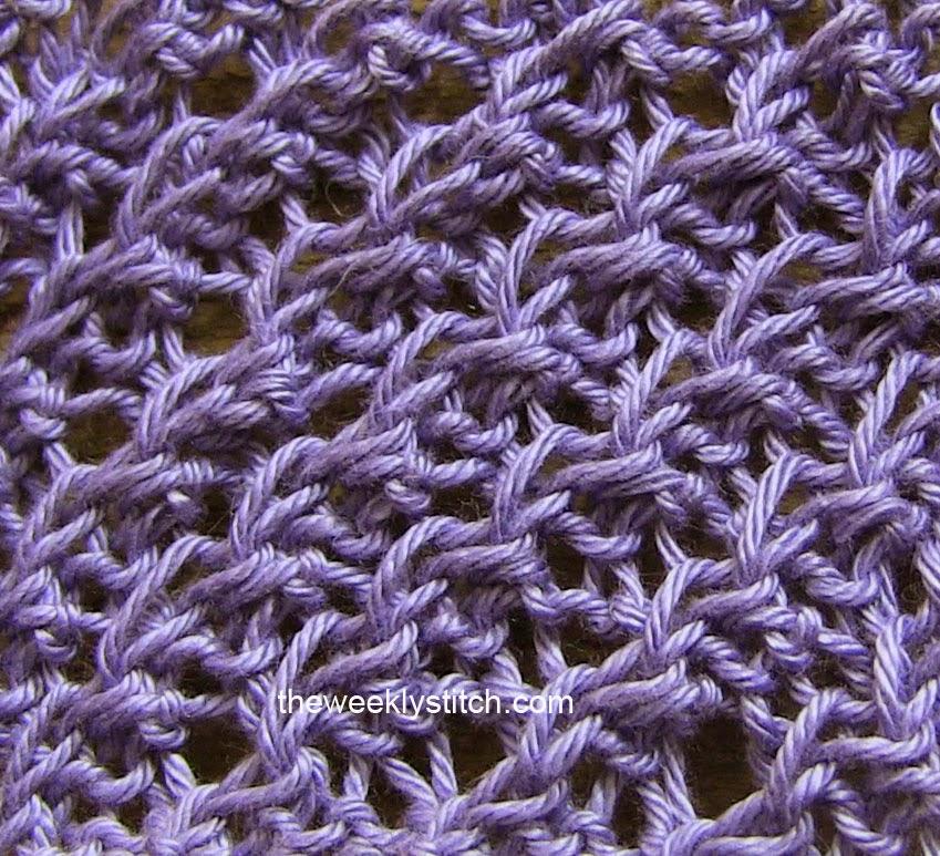 Knitting Daisy Stitch Pattern : Diagonal Crepe Stitch The Weekly Stitch
