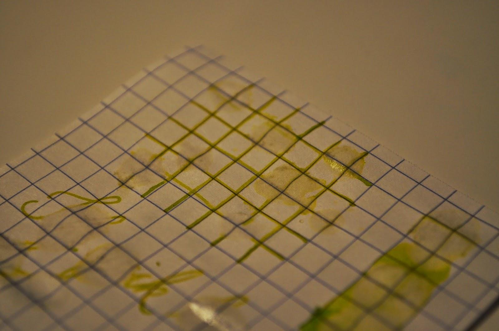 J Herbin Vert Pre Water Resistance Test