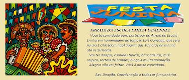 Festa Junina da escola Emilia