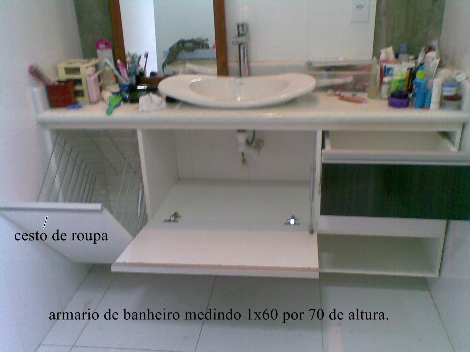 JFlorencio MoveisProjetados em MDF: armário de banheiro mesa de  #465F65 1600x1200 Armario Banheiro Em Joinville