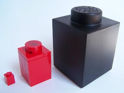 LEGO bricks varying scales