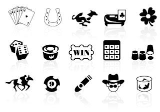 ギャンブルのシルエット アイコン Gambling icons イラスト素材