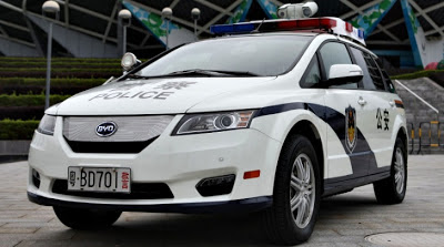 Chinese Police in Shenzen to Drive BYD E6 EVs