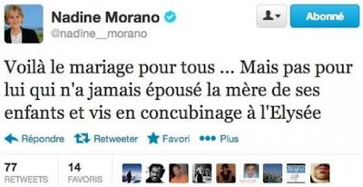 Tweet de Nadine Morano