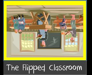 A classroom upside-down