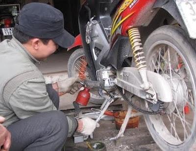 Sử dụng xe máy