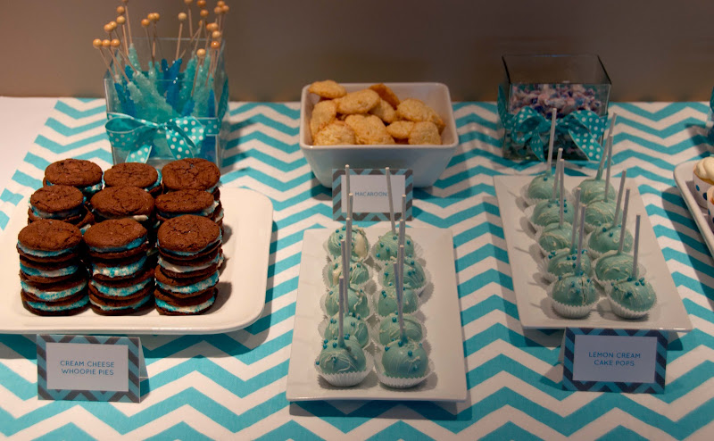 Baby Shower Dessert Ideas For A Boy aesthetic nest: party: chevron-dot baby shower (printables)