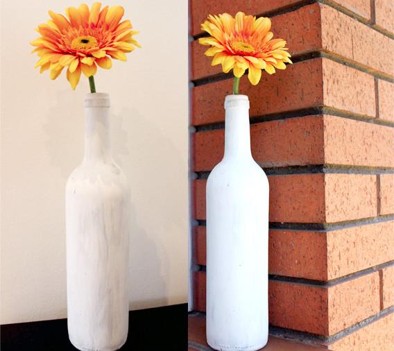 botella pintada para decorar