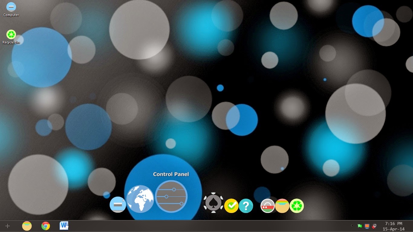 Colorful Flat Round theme for Windows 7